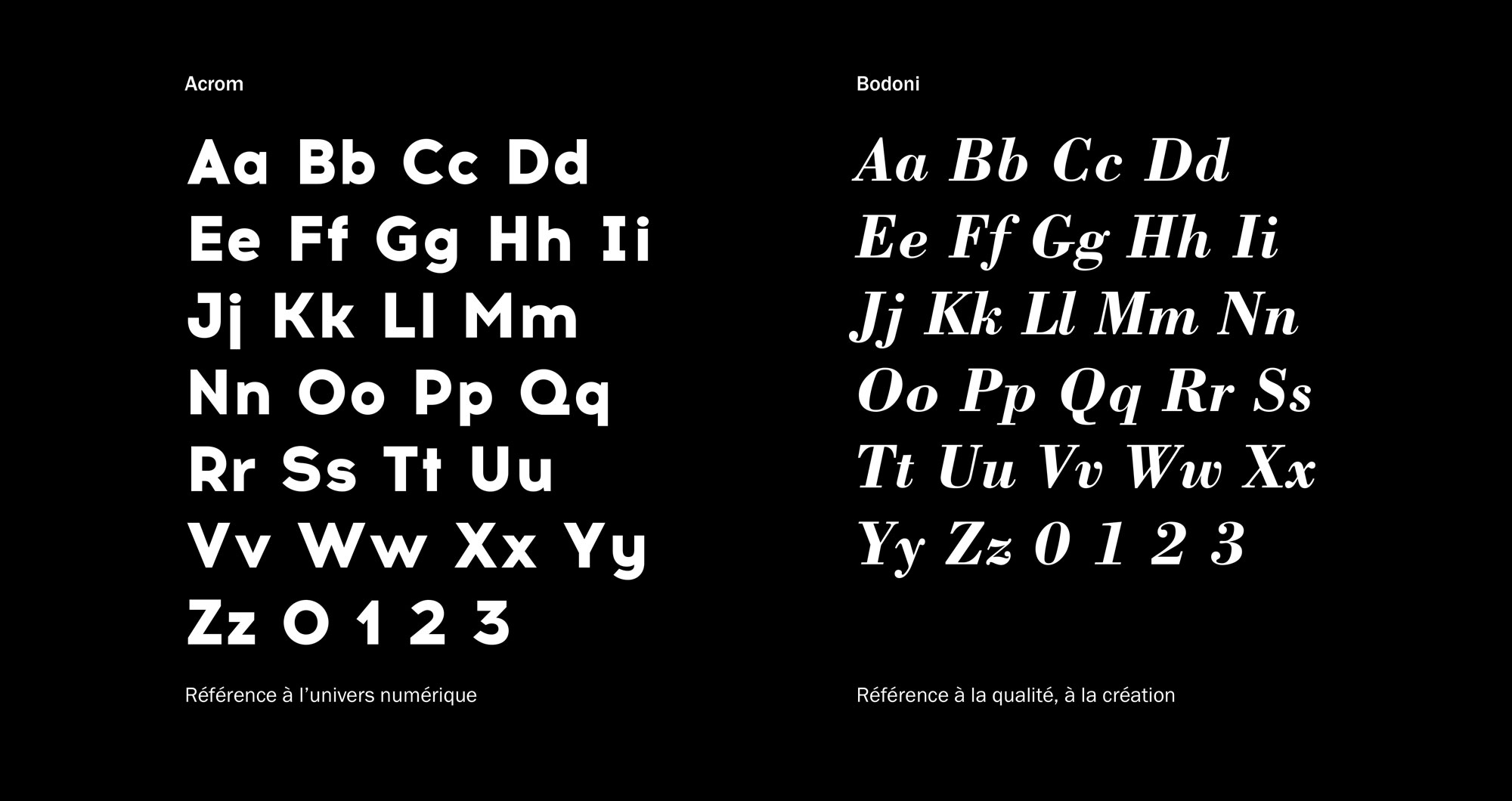 Typographie identité Apidea